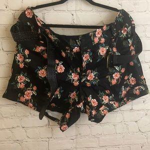 Torrid short shorts floral pattern